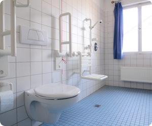 bathroom installations, bathrooms, limited mobility bathrooms